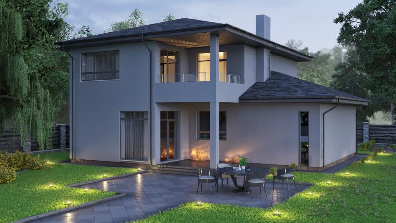 проект дома « Проект двухэтажного дома БОРИС »
