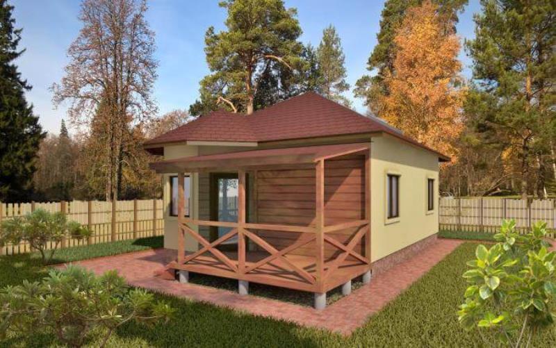 проект дома « Проект Дачный домик `Популярный-56` »