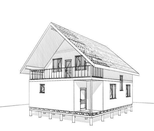 м. Київ, проект двоповерхового будинку Трін 118,47 кв.м