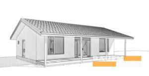 Проект одноэтажного дома из СИП фото