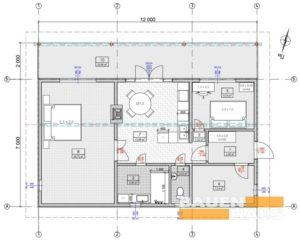 План первого этажа одноэтажного дома СИП фото