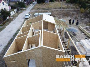 СИП дом на участке строительства фото