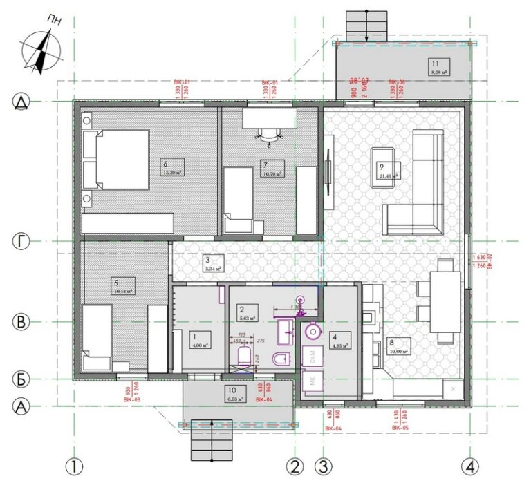 проект дома Днепр 88 план рисунок