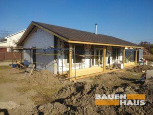деревянная терраса для СИП дома фото