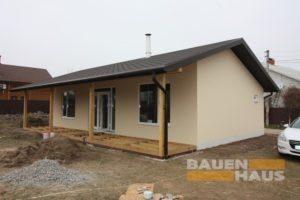 готовый фасад дома из СИП панелей фото