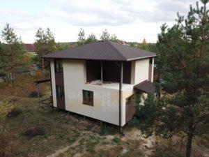 комбинированная отделка фасада СИП дома фото