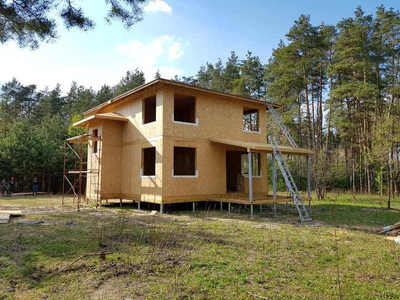 Видео строительства дома из СИП панелей за 54 дня
