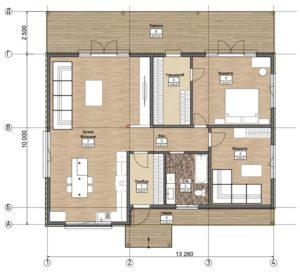 Дом из СИП панелей в Борисполе план