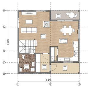 Дом из СИП панелей в Хусте план