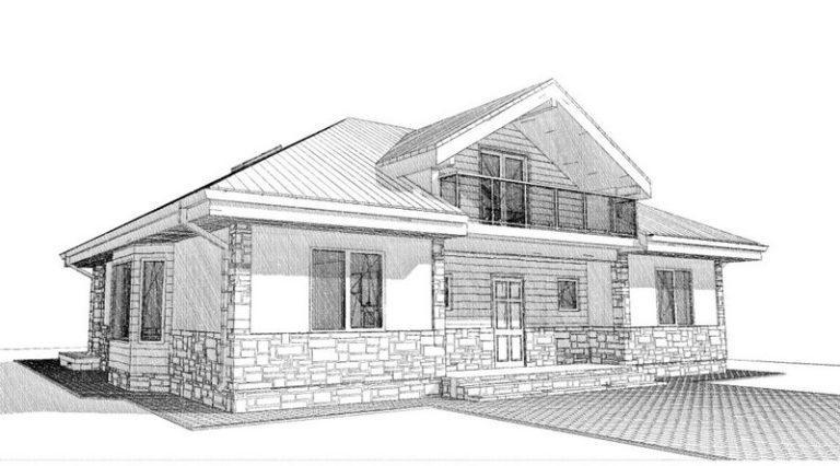 Дом из СИП панелей в Крушинке