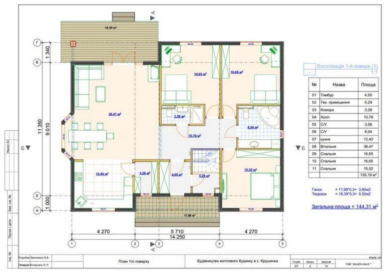 Дом из СИП панелей в Крушинке план