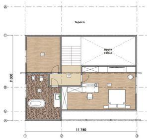 Дом из СИП панелей в Вышгороде план