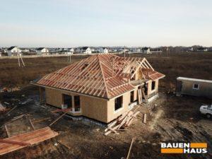 Крыша в доме стропильная