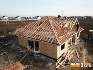 Собрали систему прогонов крыши