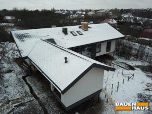 Дом из СИП панелей с квадрокоптера