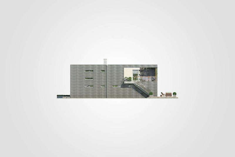 Большой двухэтажный дом из СИП панелей фасад