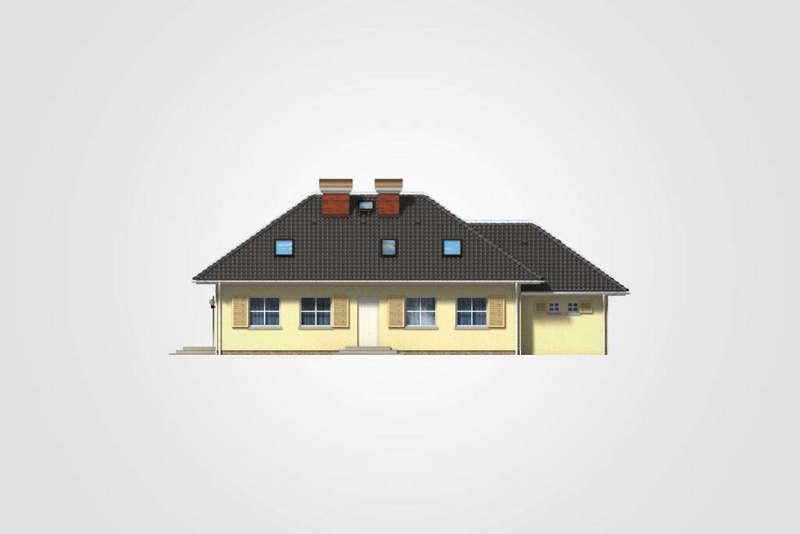 Проект дома из СИП панелей K1.167