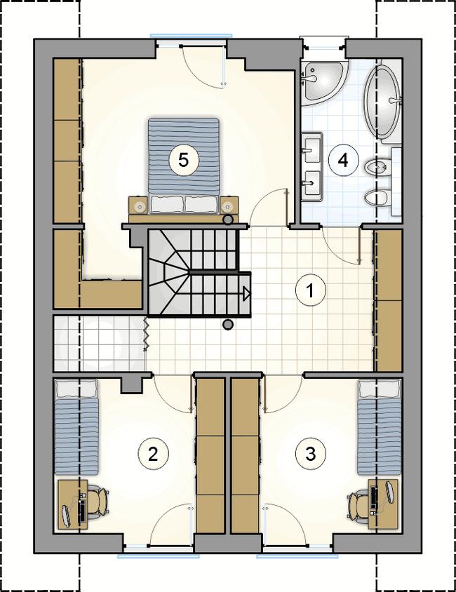 Проект дома из СИП панелей план