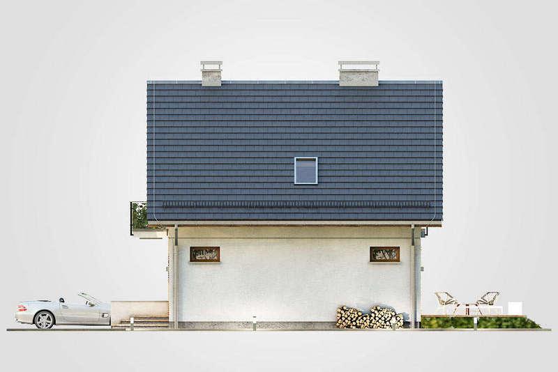 Проект мансардного дома из СИП панелей фасад