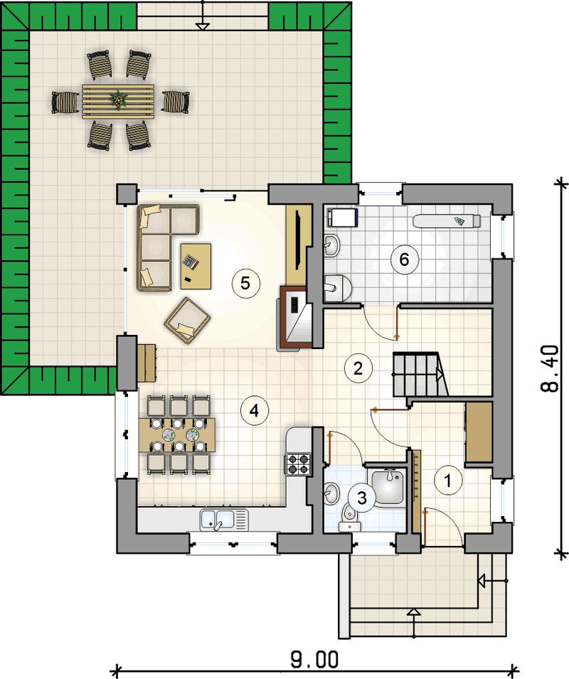 Проект мансардного дома из СИП панелей план