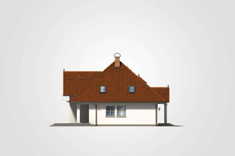 Мансардный дом из СИП панелей фасад