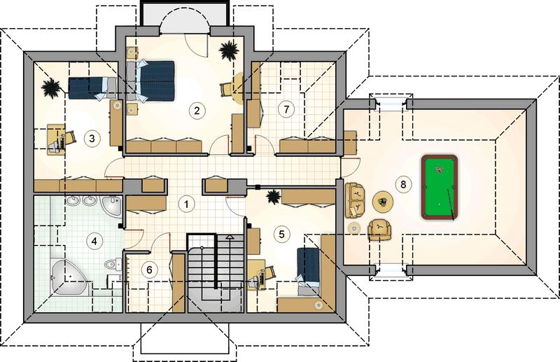 Мансардный дом из СИП панелей план