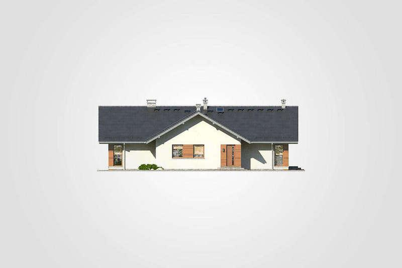 Одноэтажный дом из СИП панелей фасад