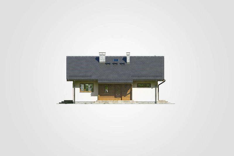Проект одноэтажного дома из СИП панелей фасад