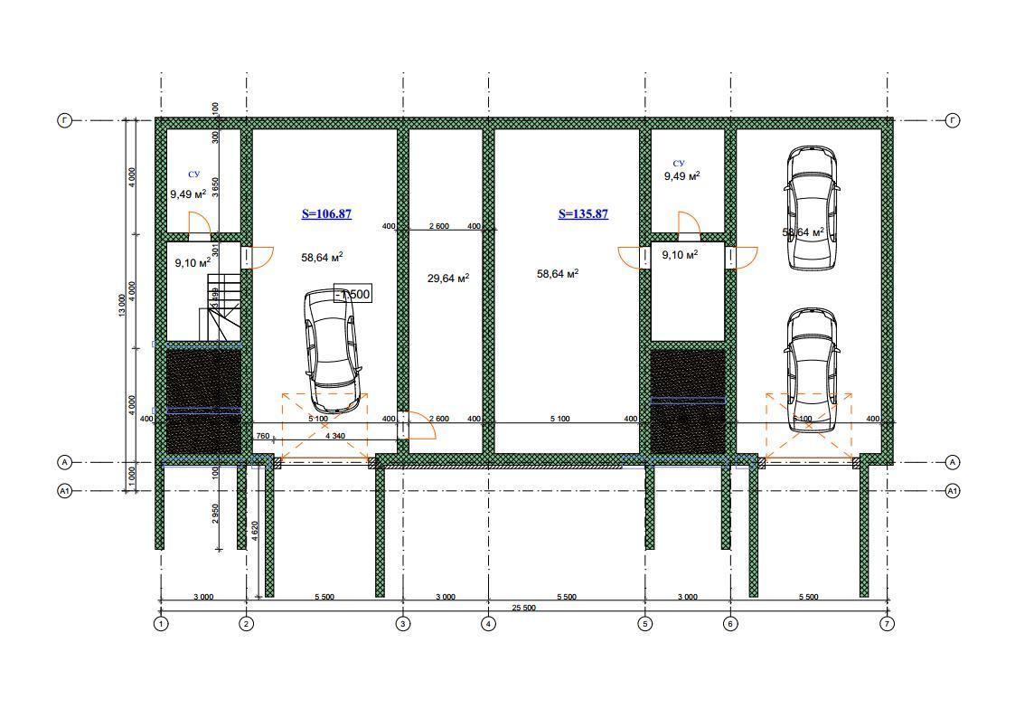 Цокольный этаж таунхауса